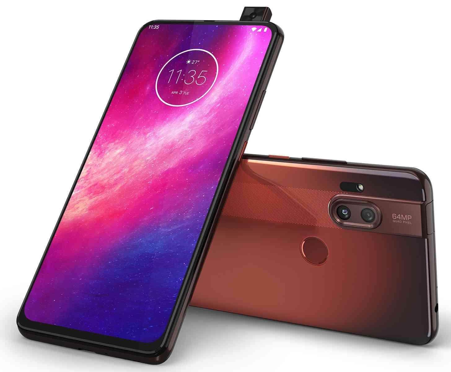Motorola One Hyper red