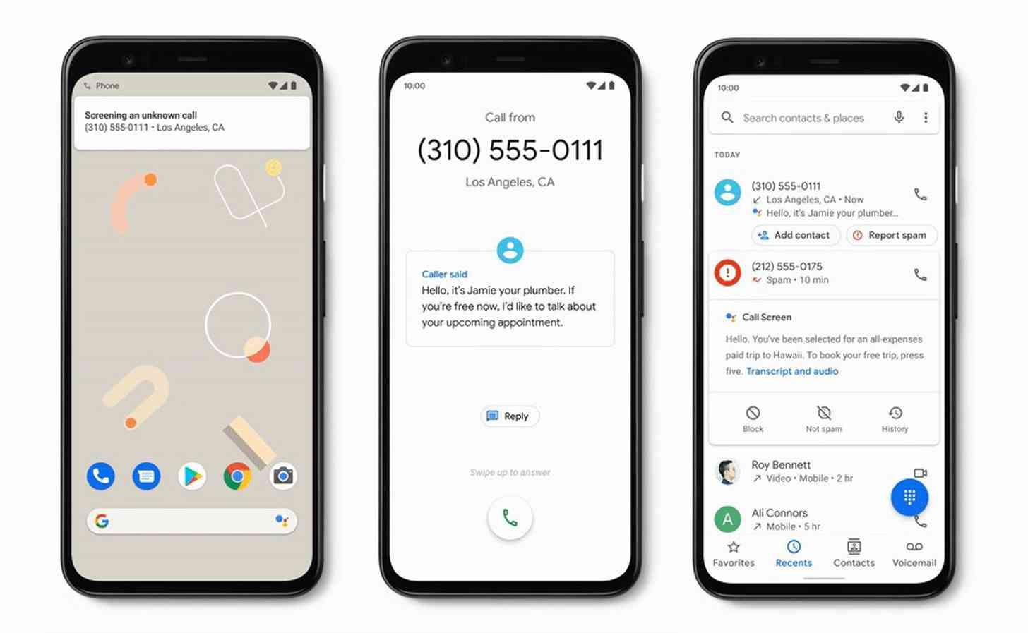 Google Pixel automatic call screen