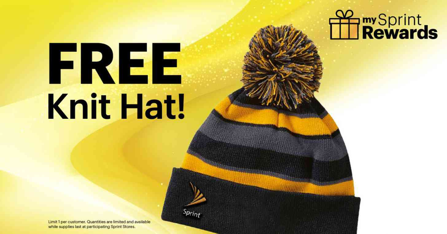 Sprint free knit hat