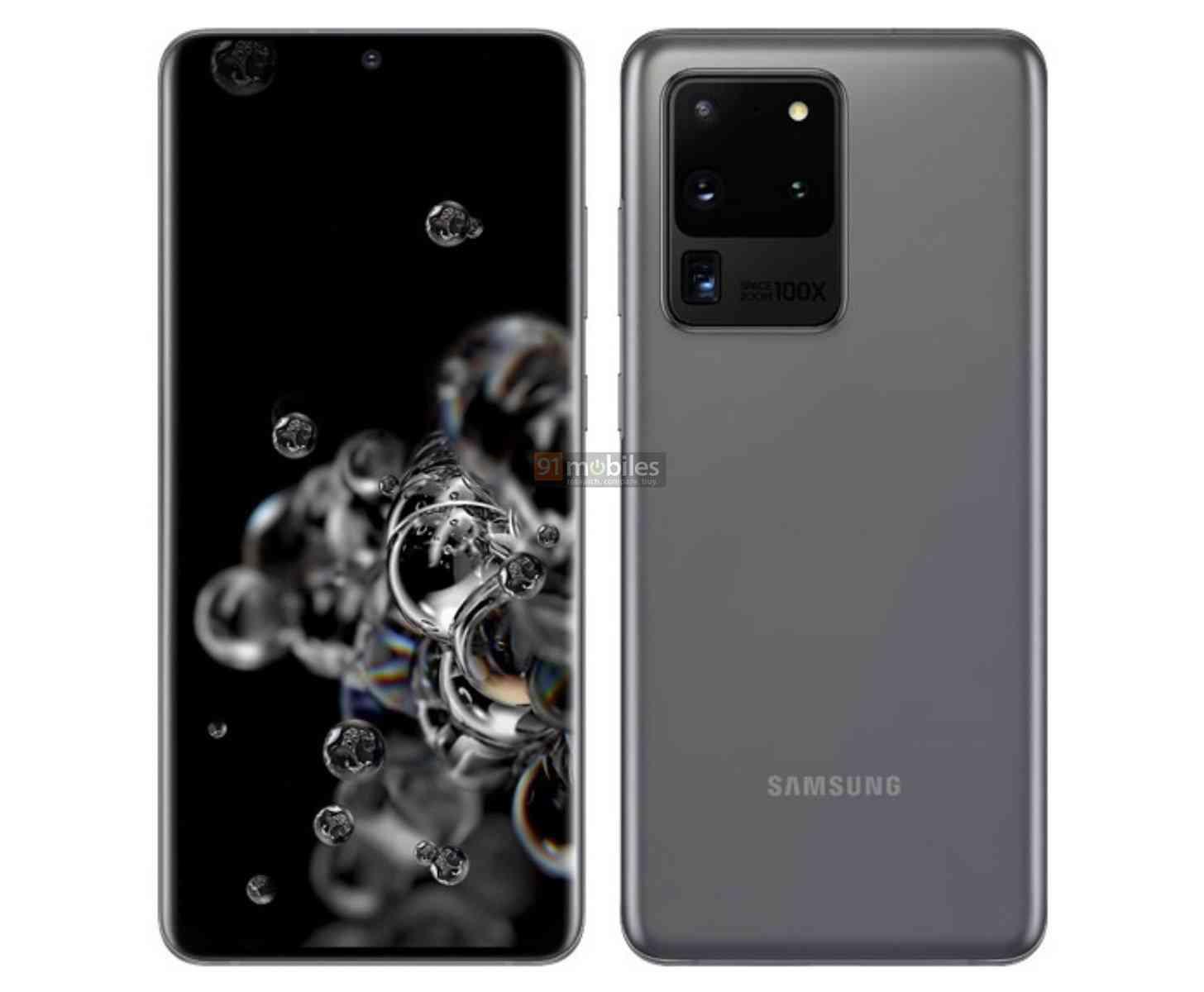 Galaxy S20 Ultra image leak