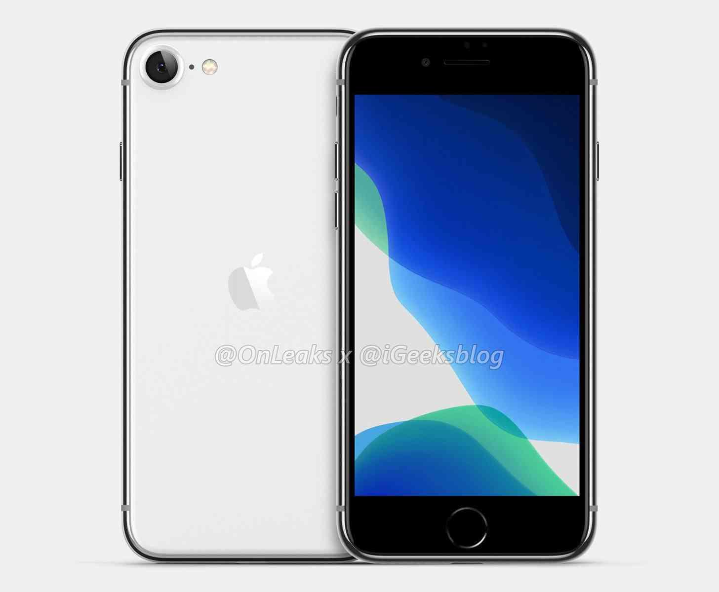 iPhone SE 2 render leak
