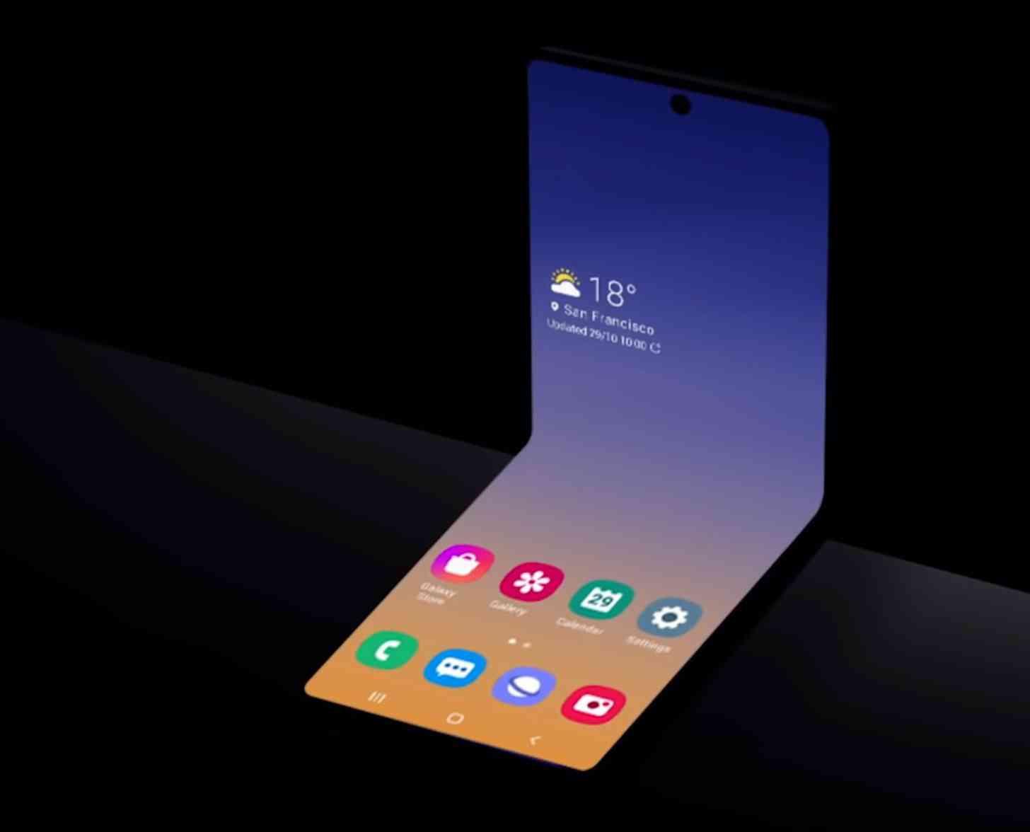 Samsung Galaxy Z Flip teaser