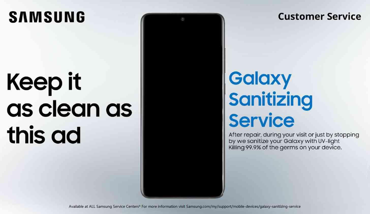 Samsung Galaxy Sanitizing Service