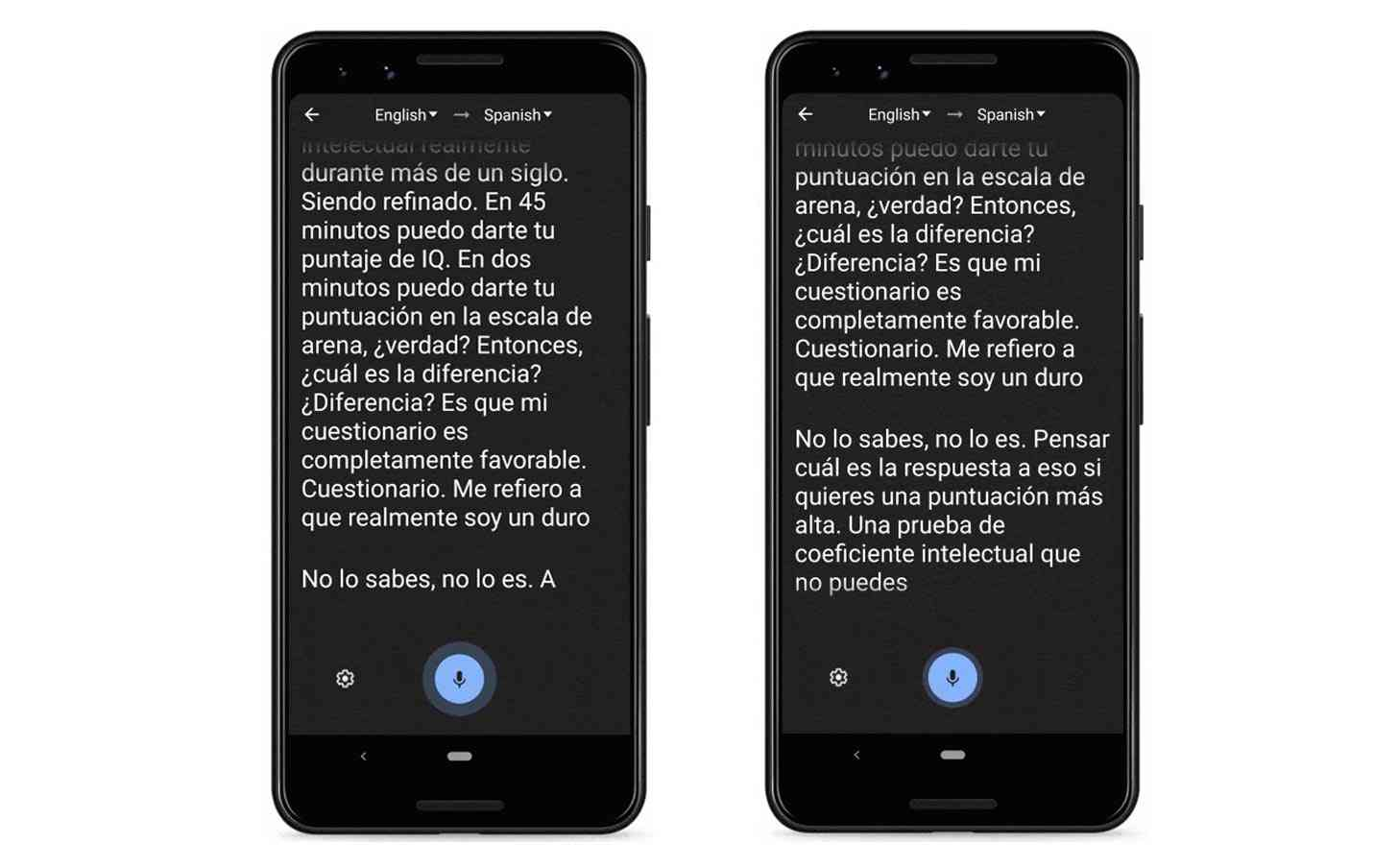 Google Translate Transcribe