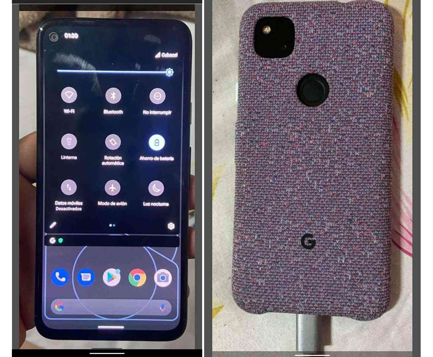 Pixel 4a photo leak
