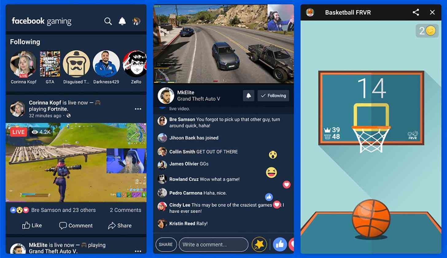 Facebook Gaming Android app