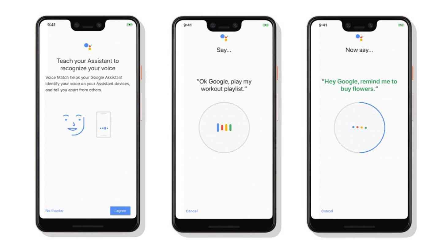 Google Assistant Voice Match