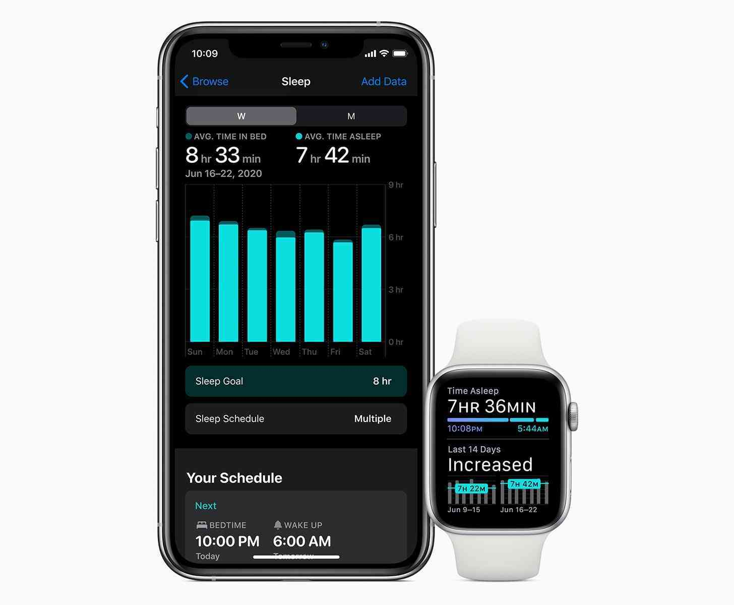Apple Watch watchOS 7 sleep tracking