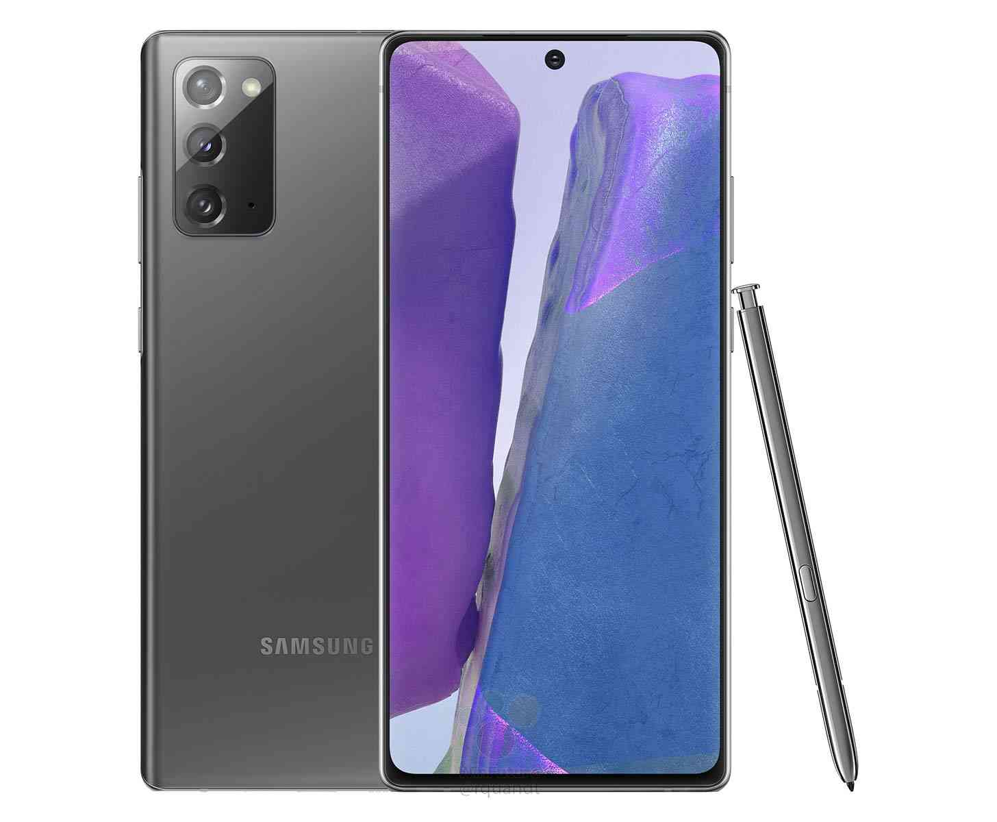 Samsung Galaxy Note 20 gray leak