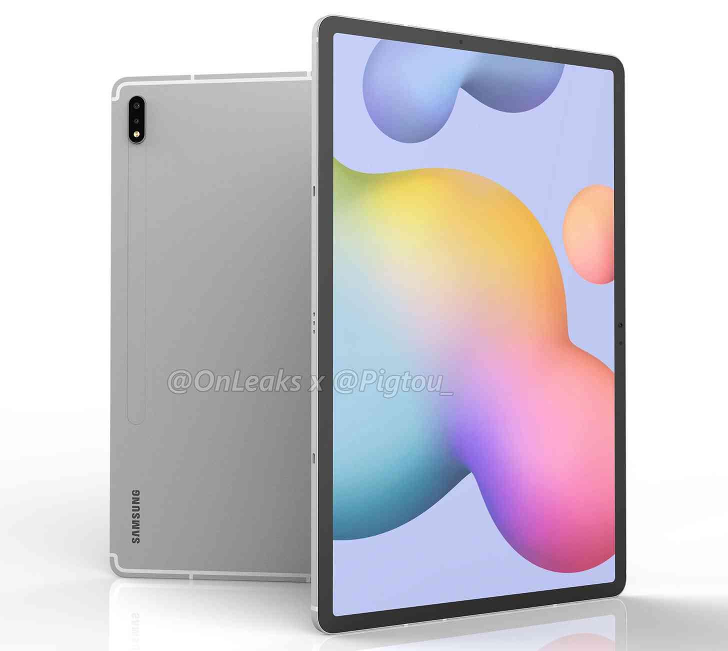 Samsung Galaxy Tab S7+ render