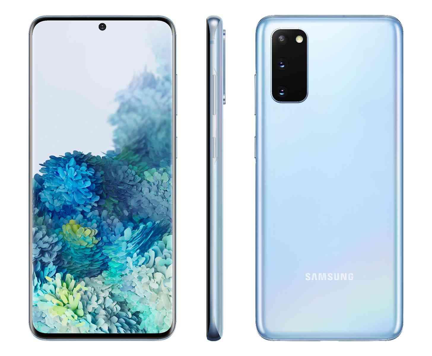 Samsung Galaxy S20 blue