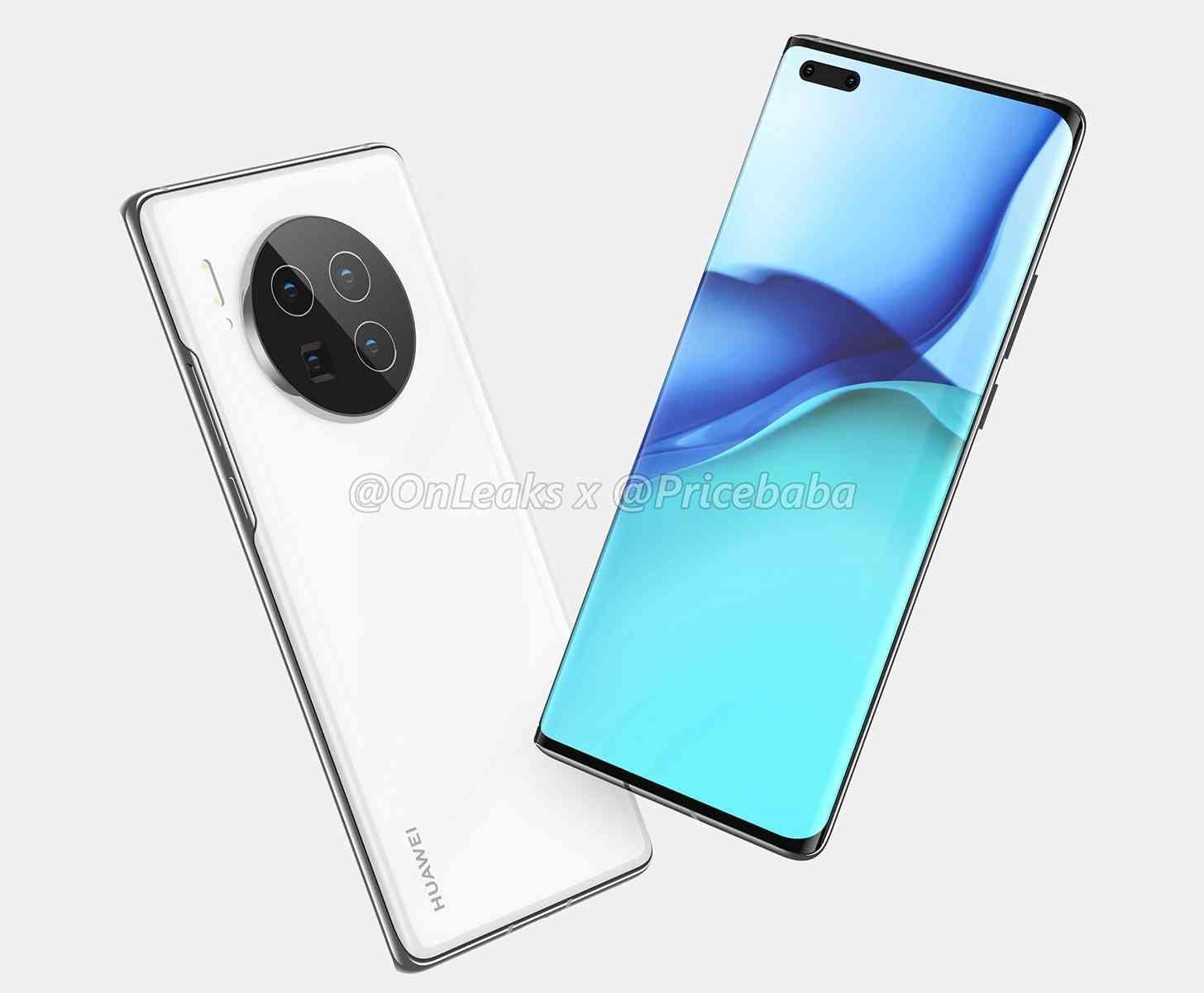 Huawei Mate 40 Pro design leak