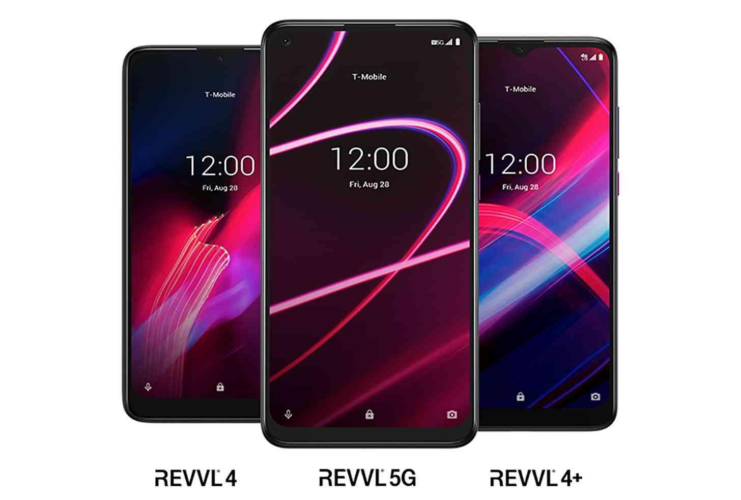 T-Mobile REVVL 5G, REVVL 4 Plus, REVVL 4
