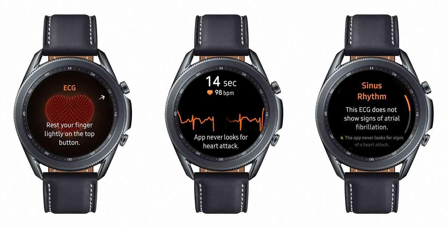 Samsung Galaxy Watch 3 ECG reading
