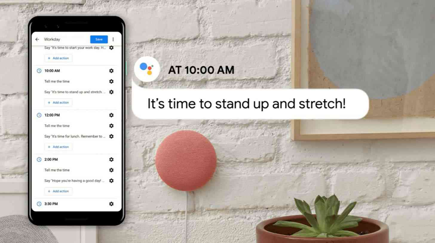 Google Assistant workday routine