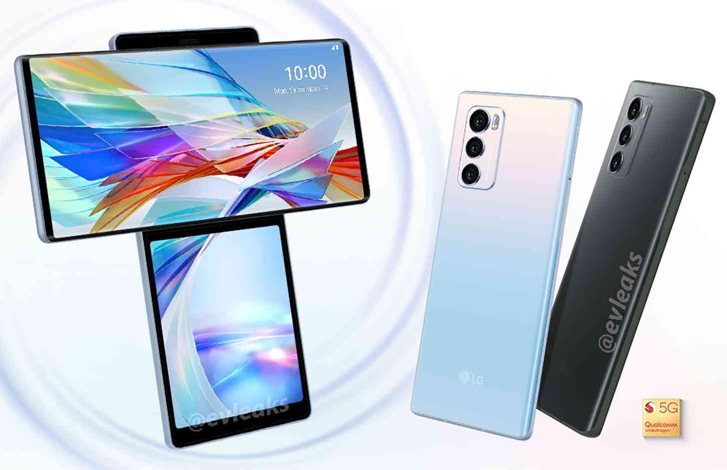 LG Wing 5G displays, cameras leak