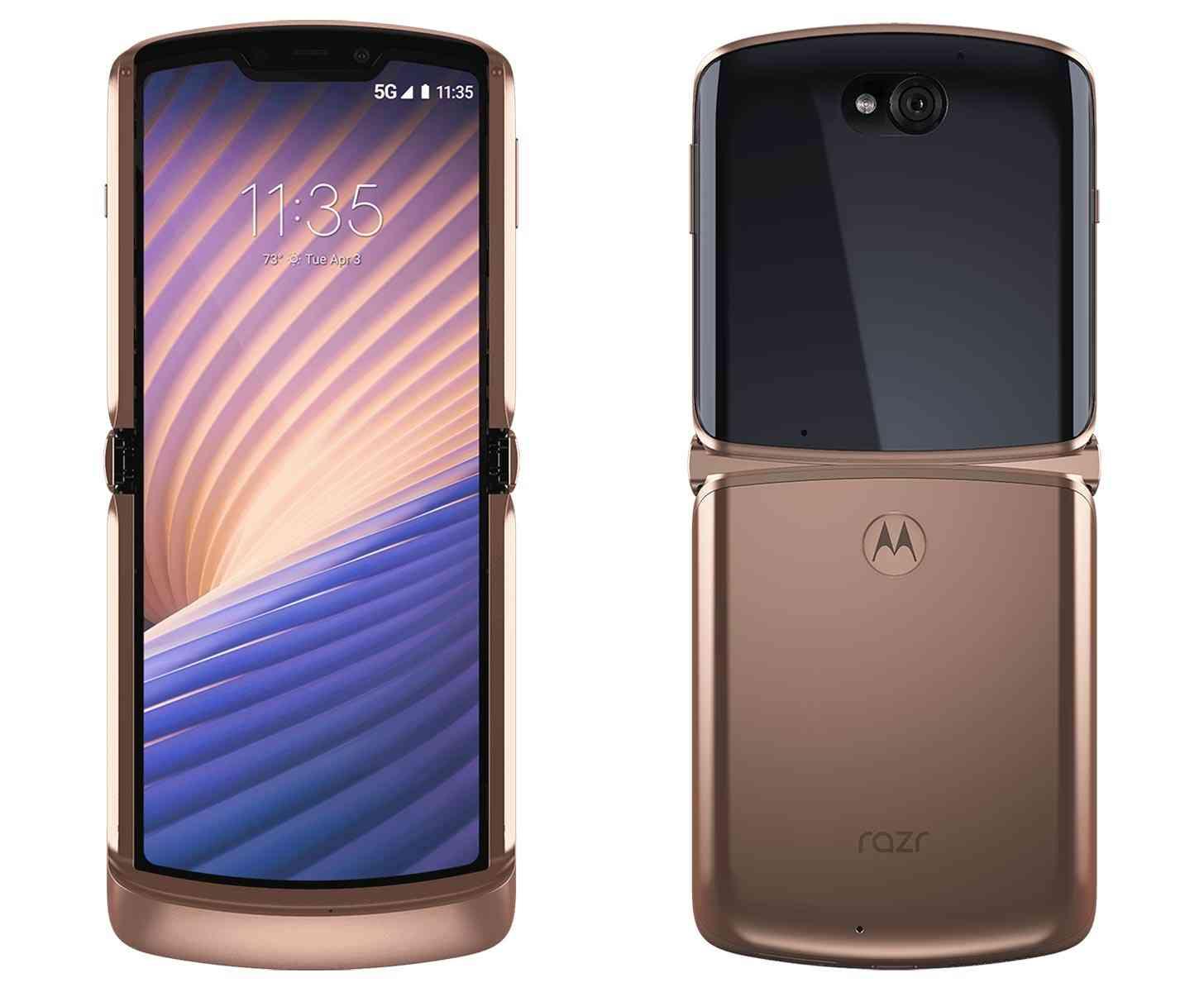 Motorola Razr 5G T-Mobile gold