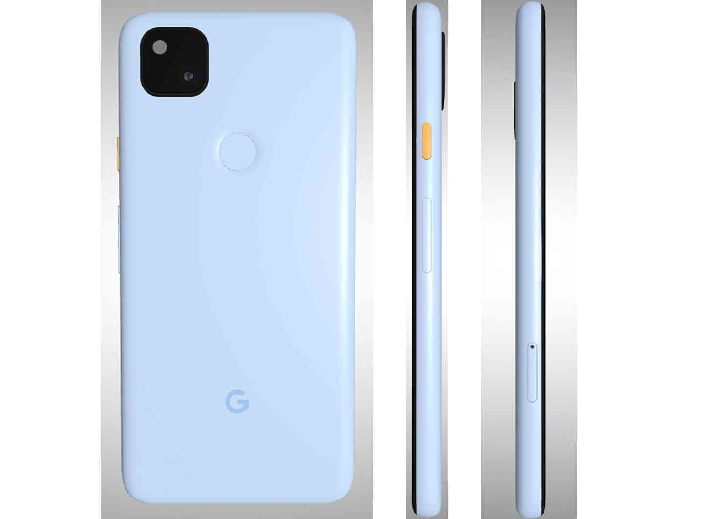Google Pixel 4a Barely Blue color