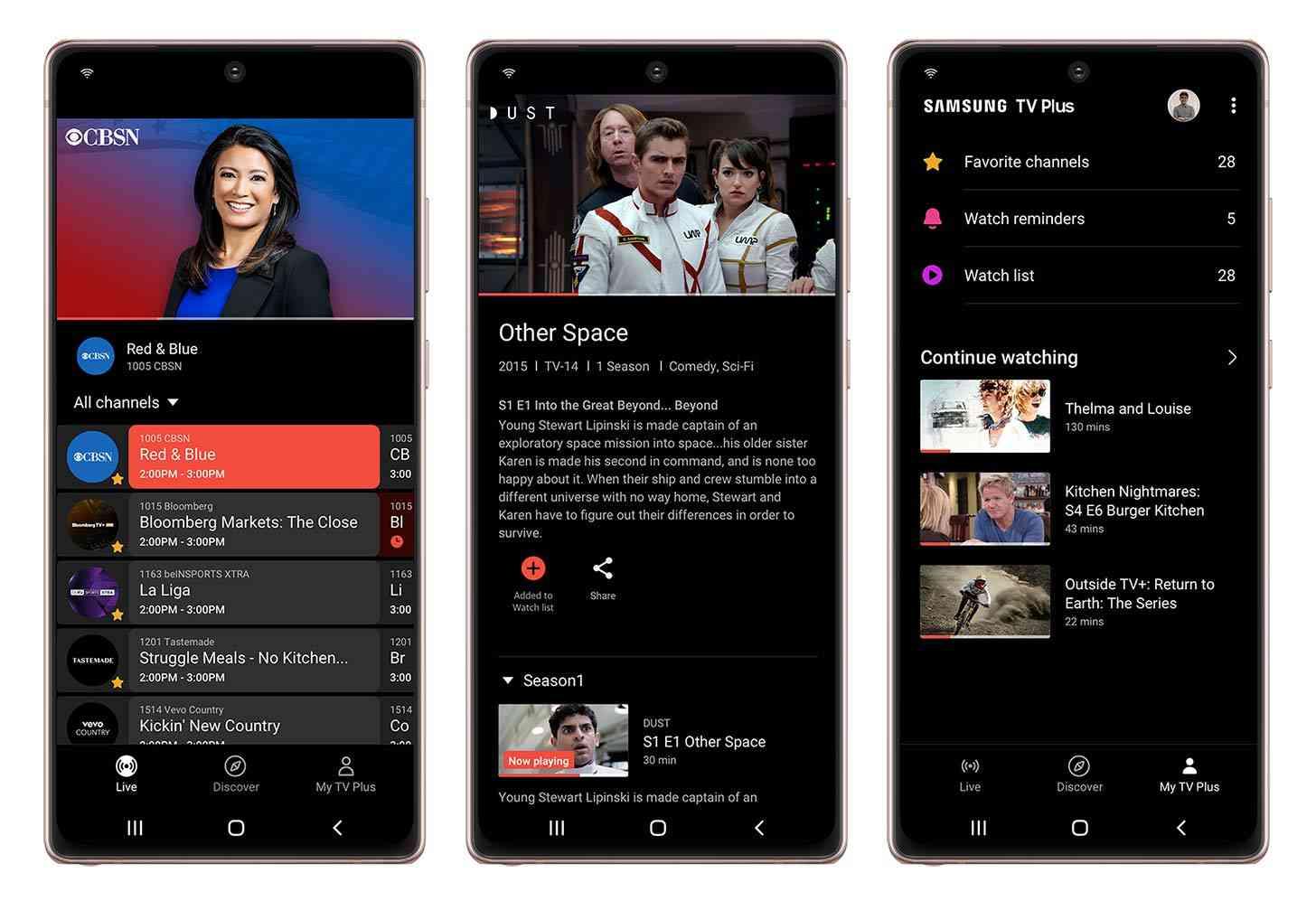 Samsung TV Plus app Galaxy phones