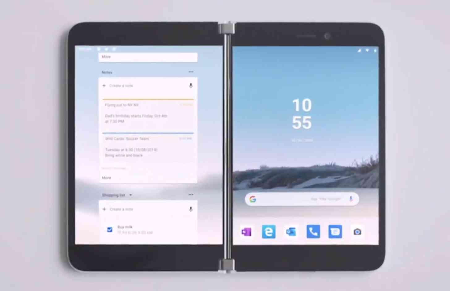 Microsoft Surface Duo open