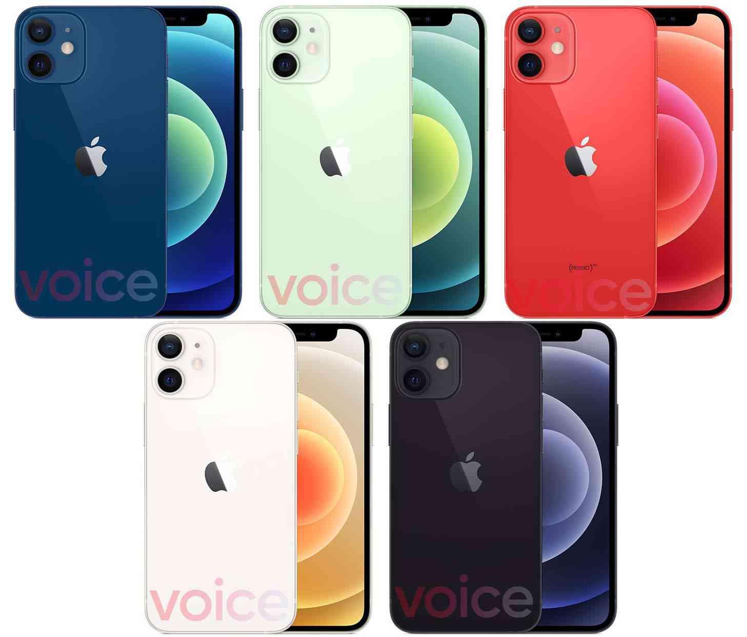 iPhone 12 Mini colors leak