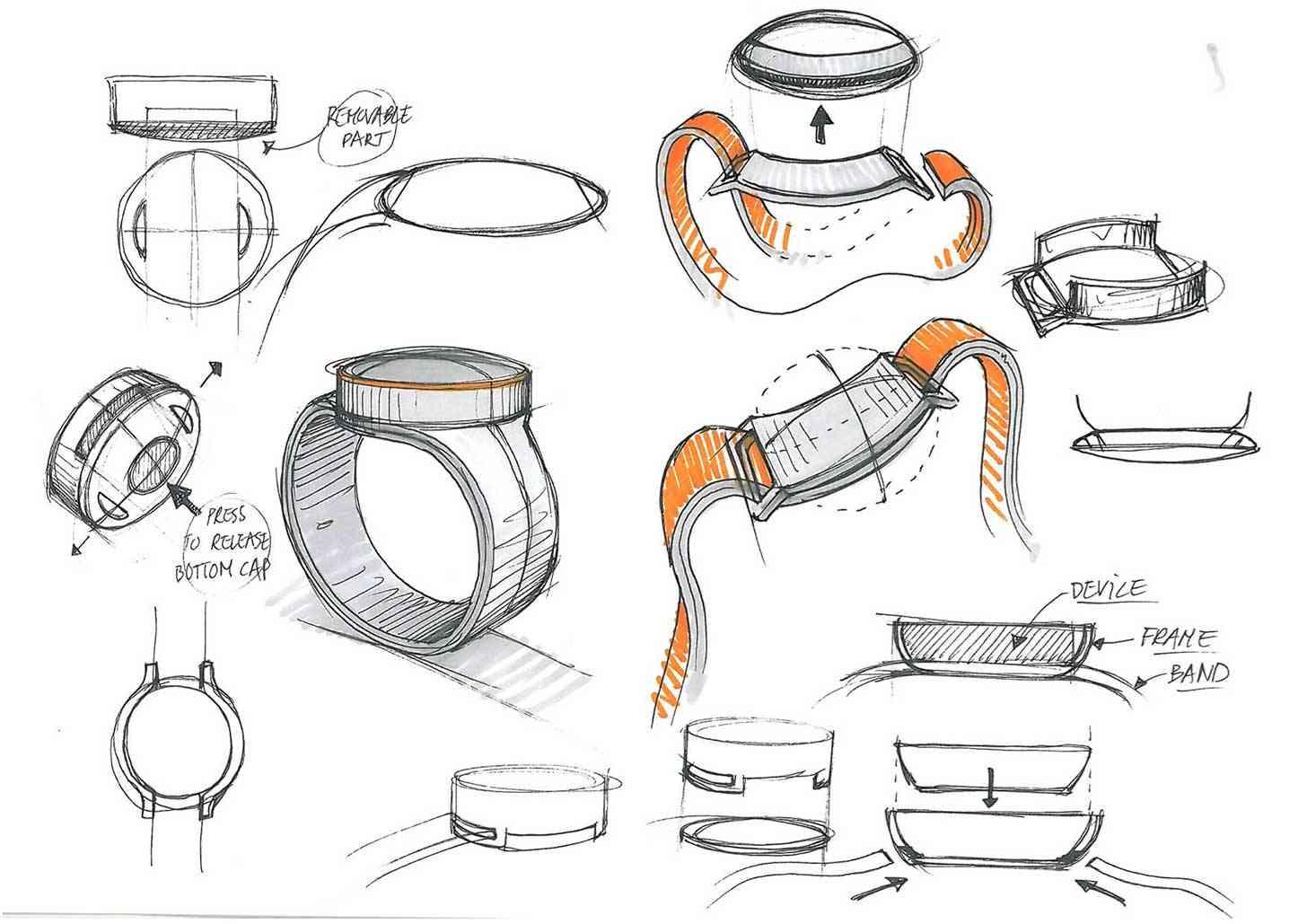 OnePlus Watch design sketches