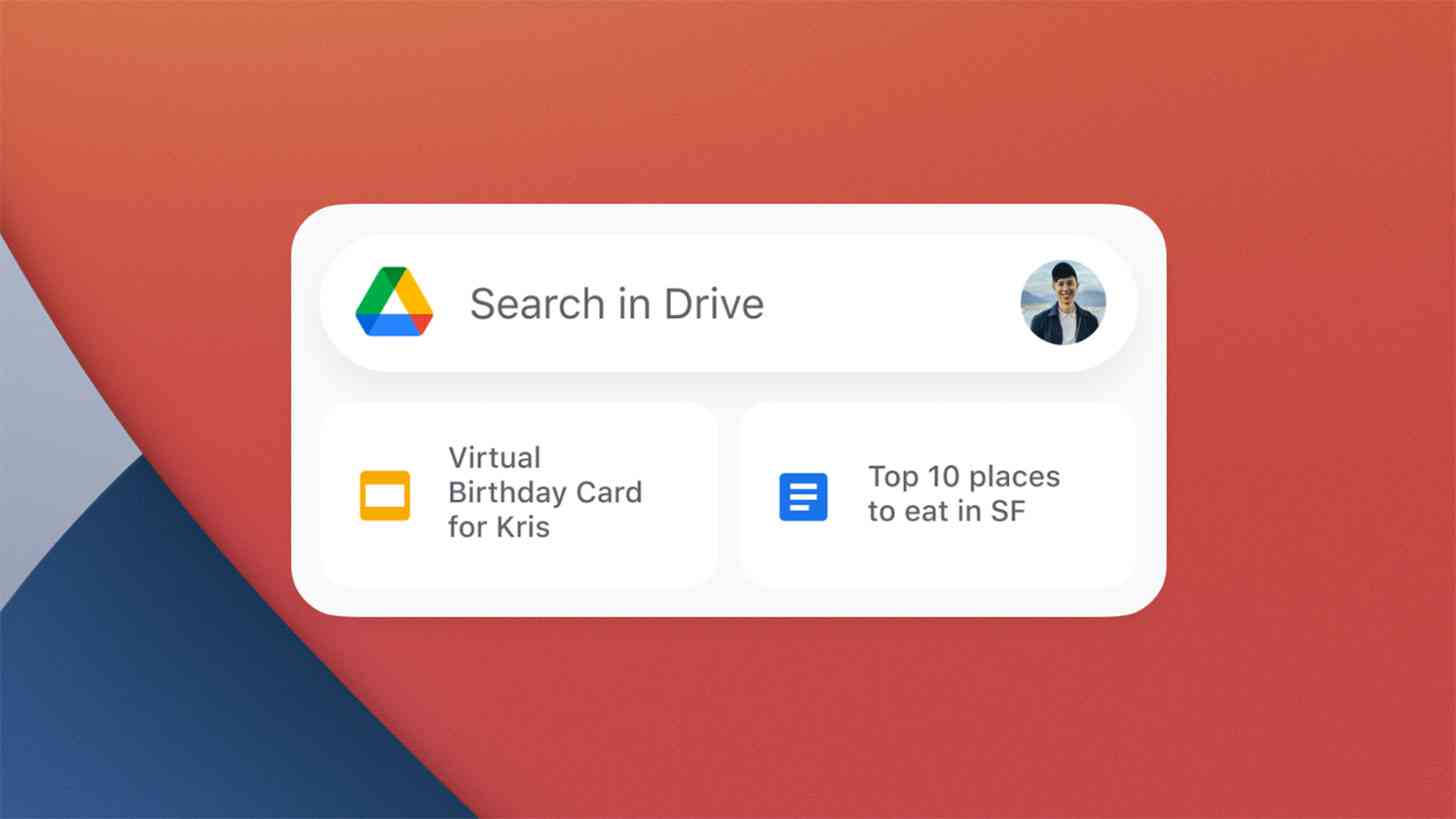 Google Drive widget iOS