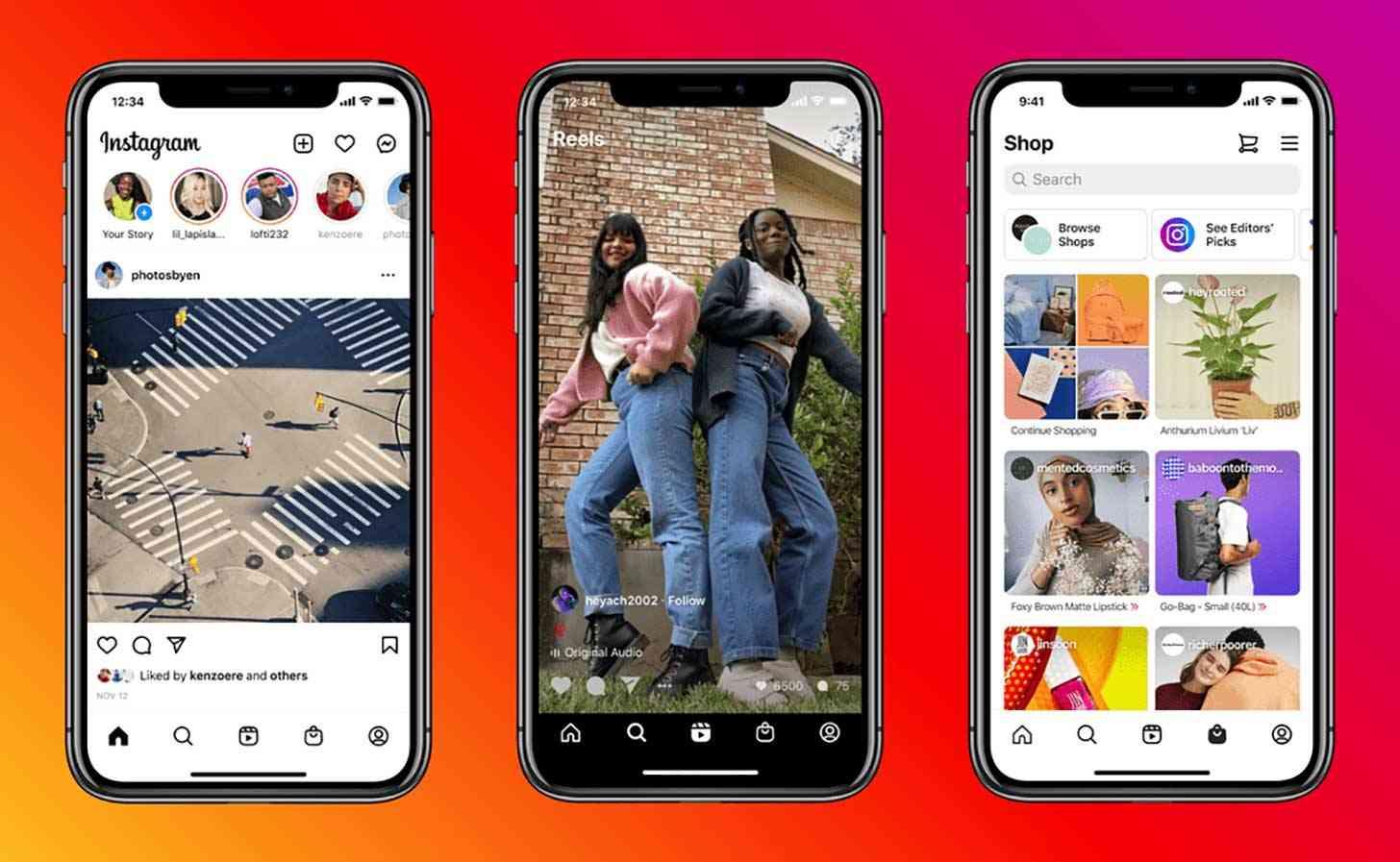 Instagram Reels, Shop home screen