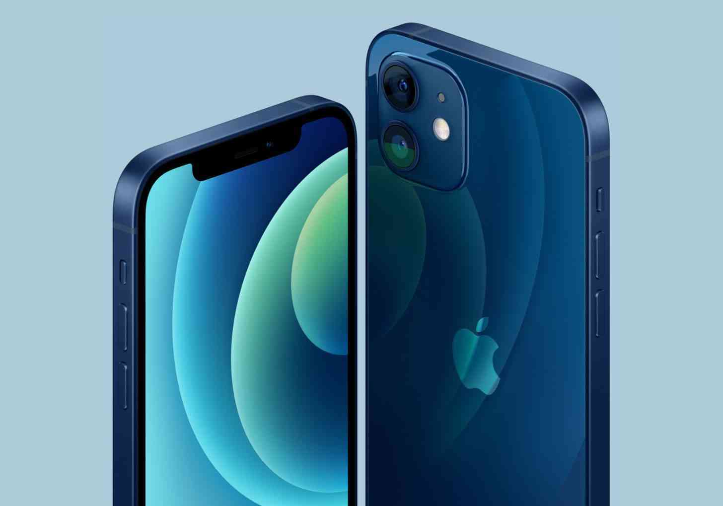 iPhone 12 in blue