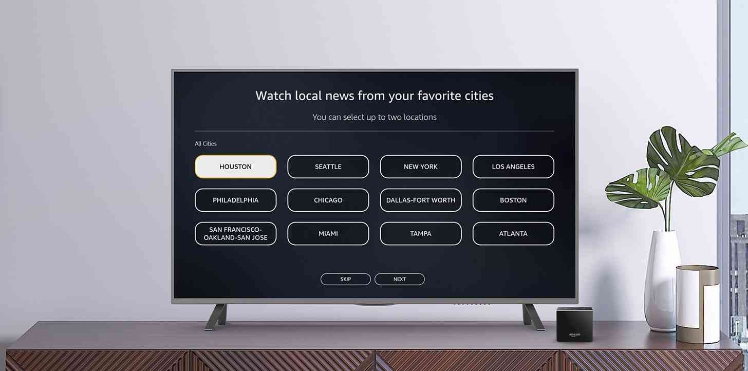 Amazon Fire TV news channels cities