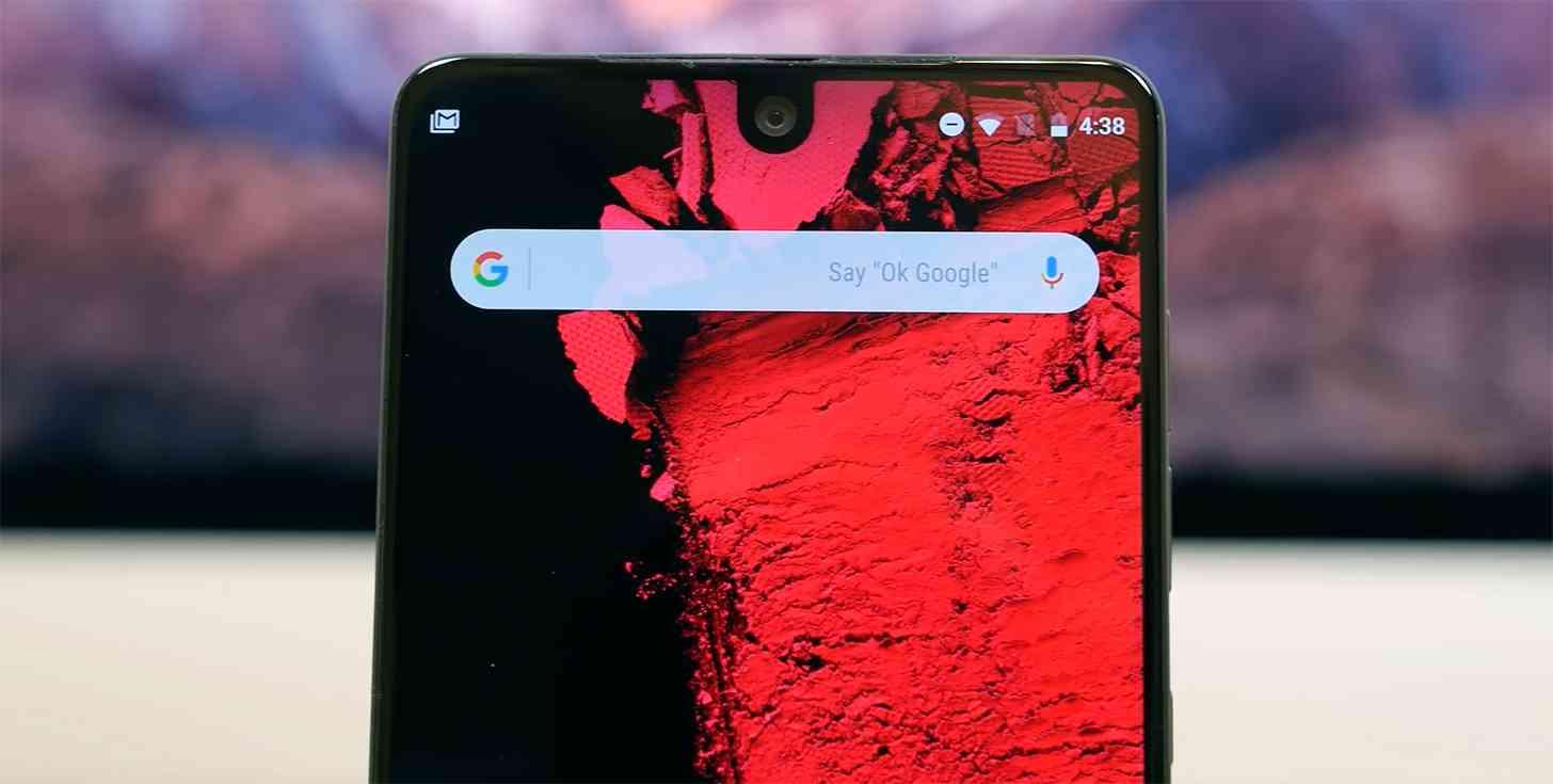 Essential Phone notch design