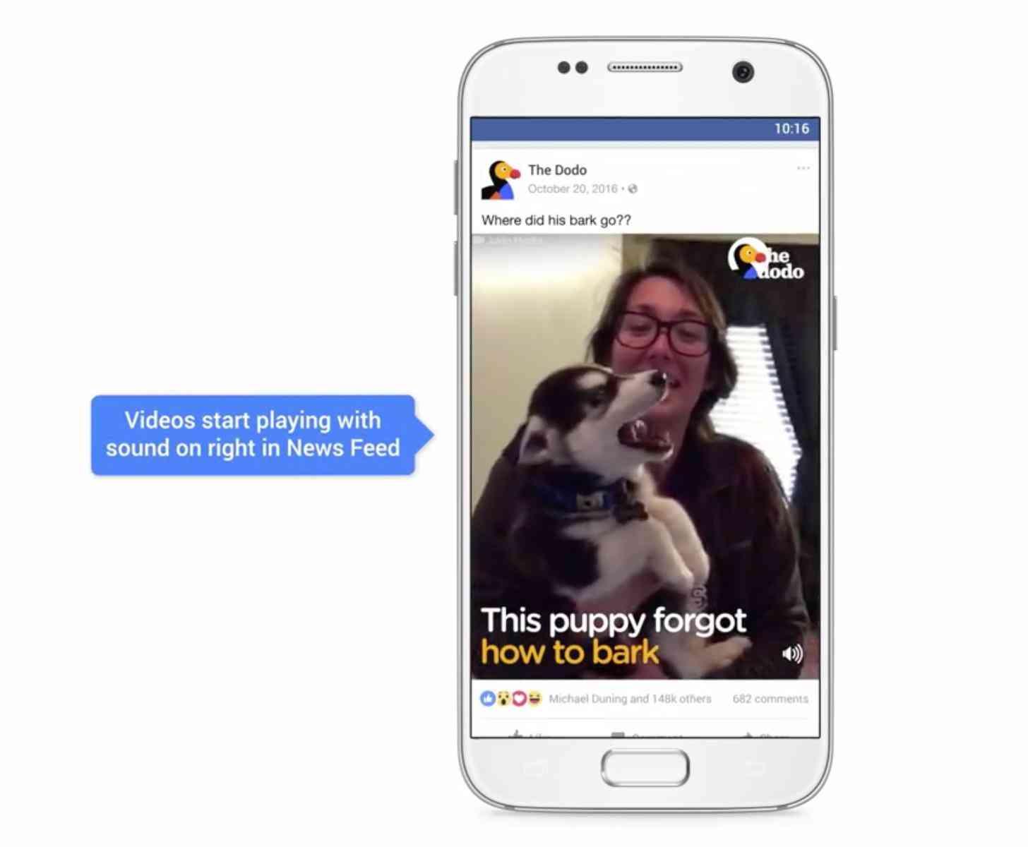 Facebook video autoplay sound