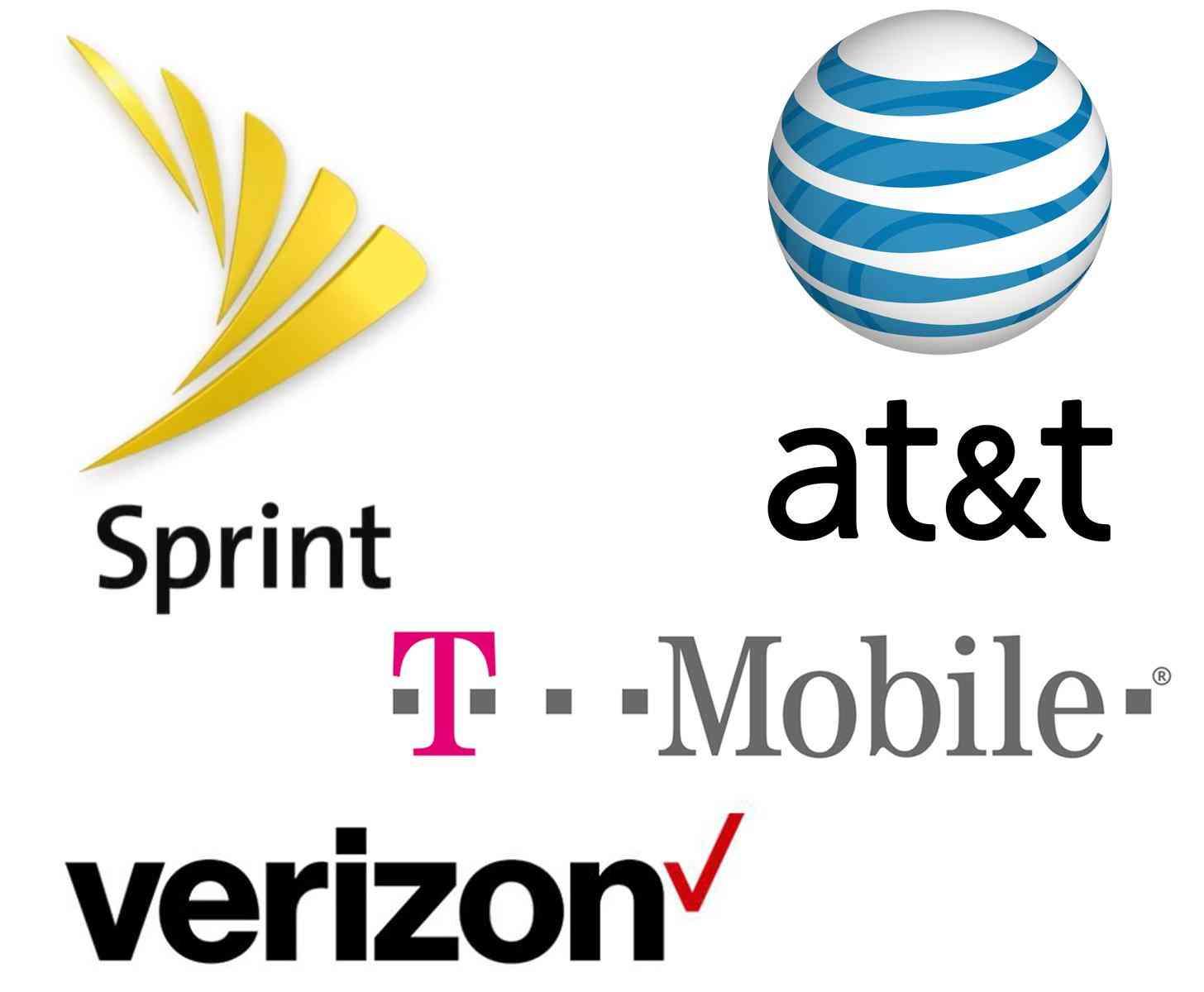 Four major US carrier logos large