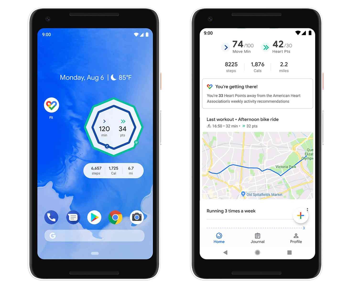Google Fit update home screen widgets