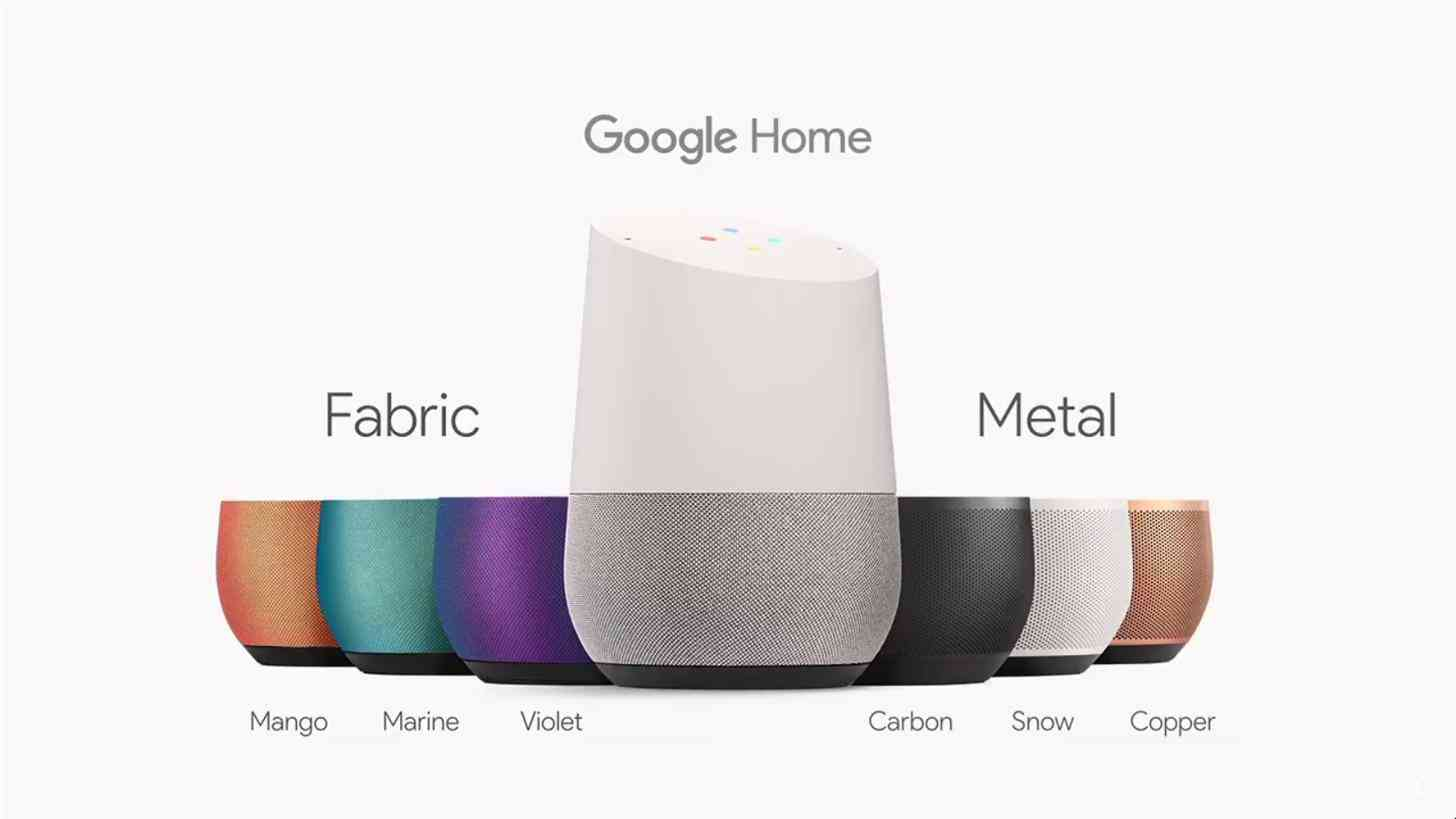 Google Home colors