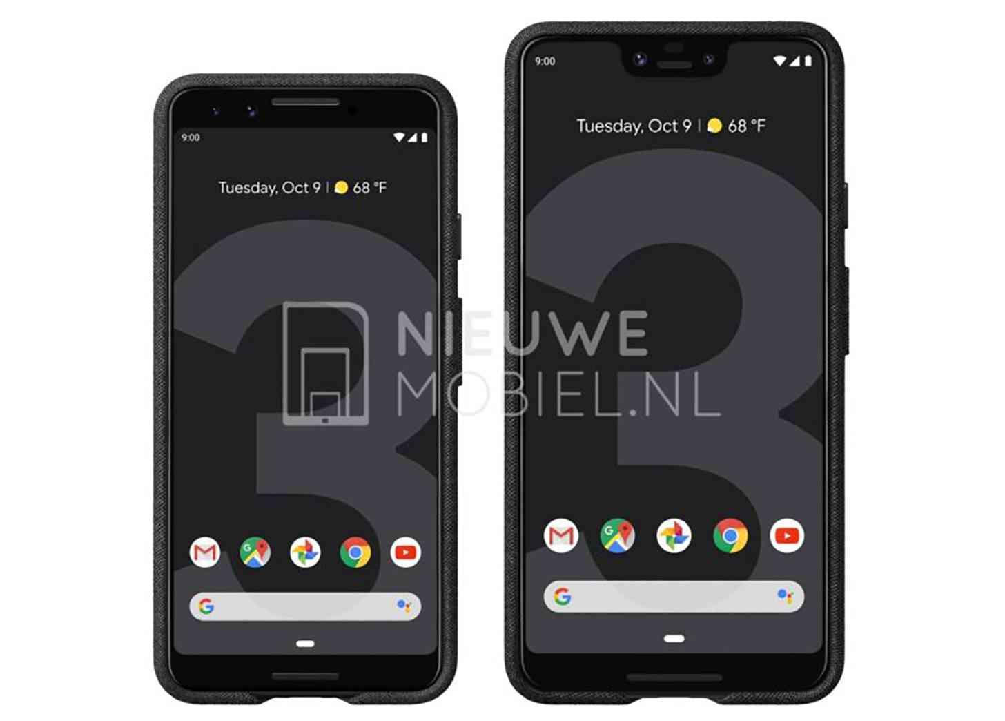 Google Pixel 3, Pixel 3 XL renders leak