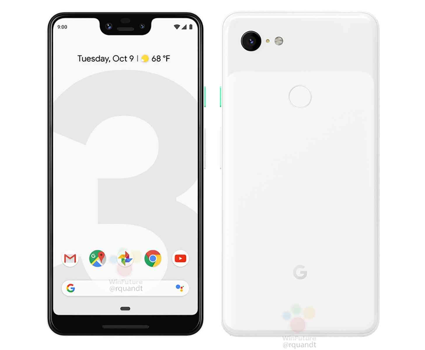Google Pixel 3 XL white leak