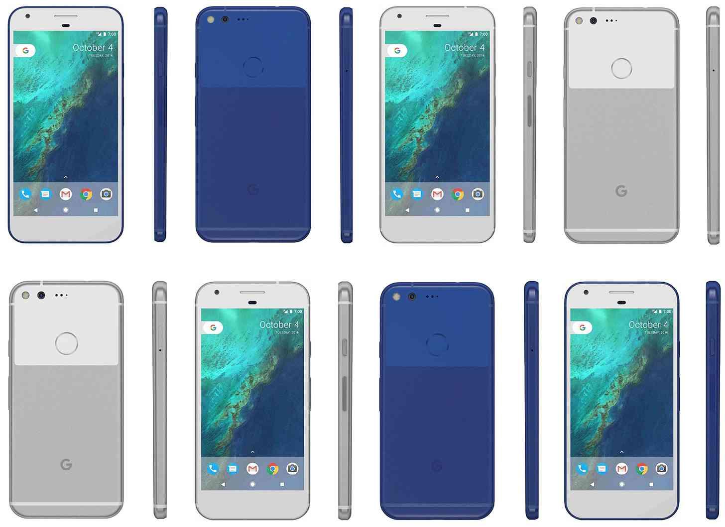 Google Pixel XL, Pixel in blue and silver leak
