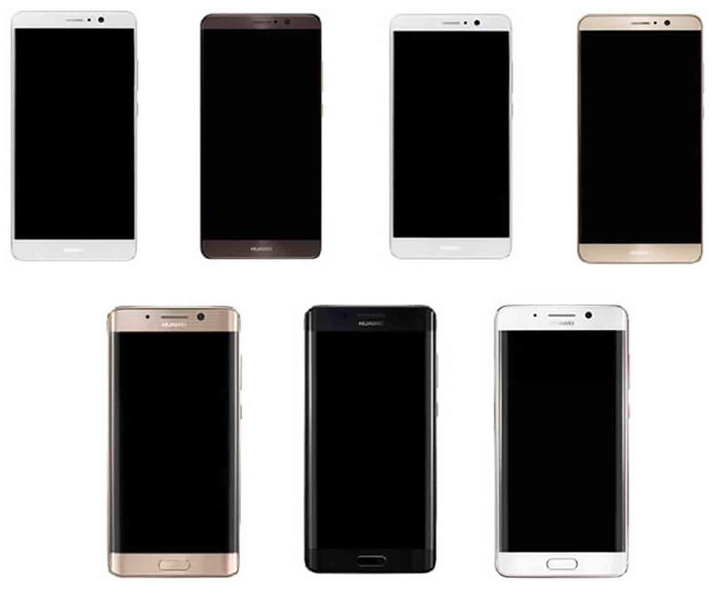 Huawei Mate 9 flat, dual curved edge display
