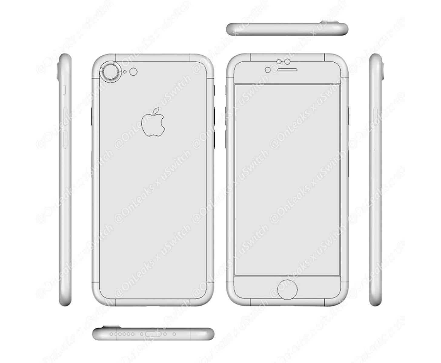 iPhone 7 factory CAD leak