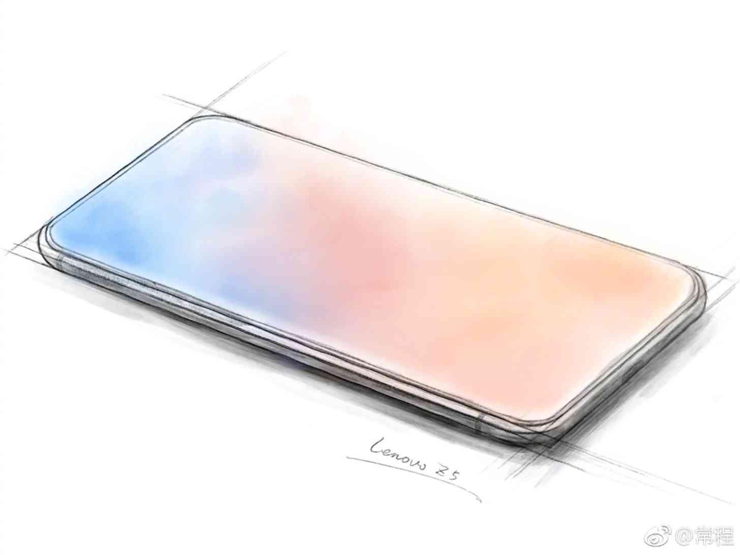 Lenovo Z5 all-screen teaser