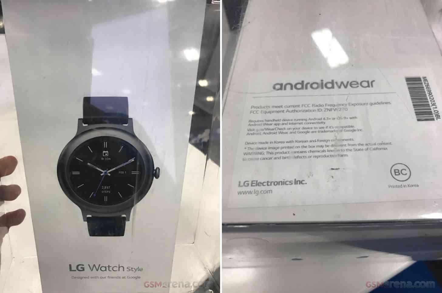 LG Watch Style packaging leak