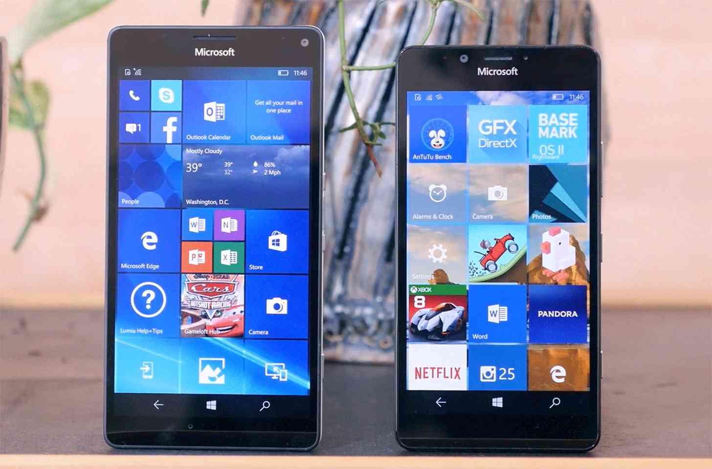 Microsoft Lumia 950 XL, Lumia 950 comparison