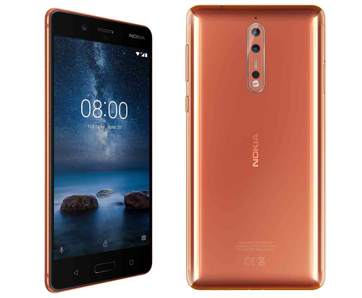 Nokia 8 Copper official