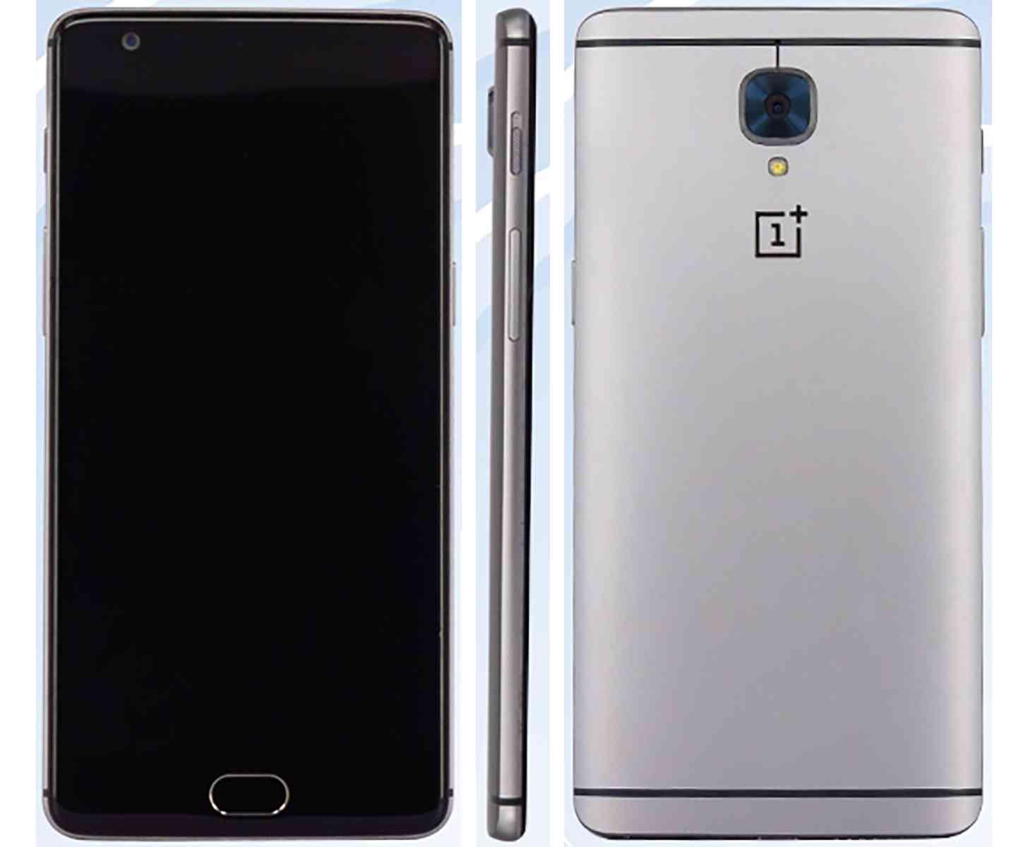 OnePlus 3 front, rear, side image leak
