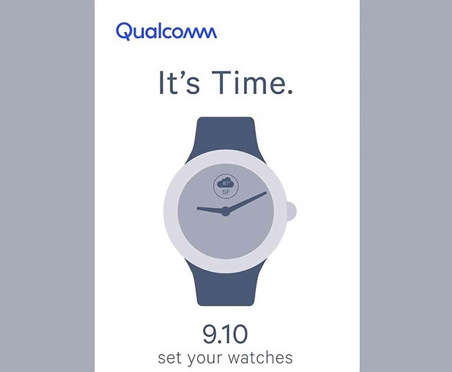 Qualcomm smartwatch event teaser