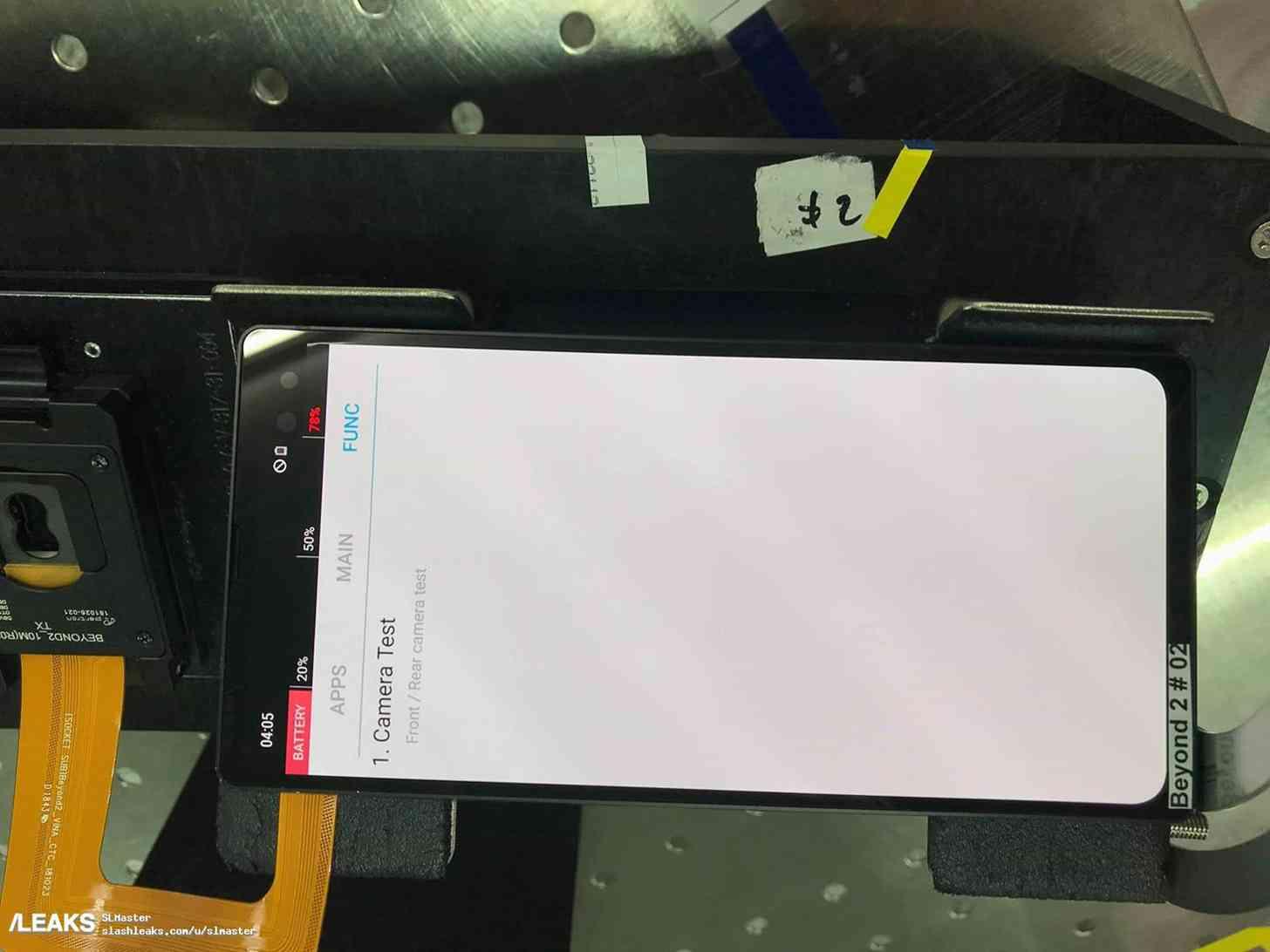 Samsung Galaxy S10+ prototype photo leak