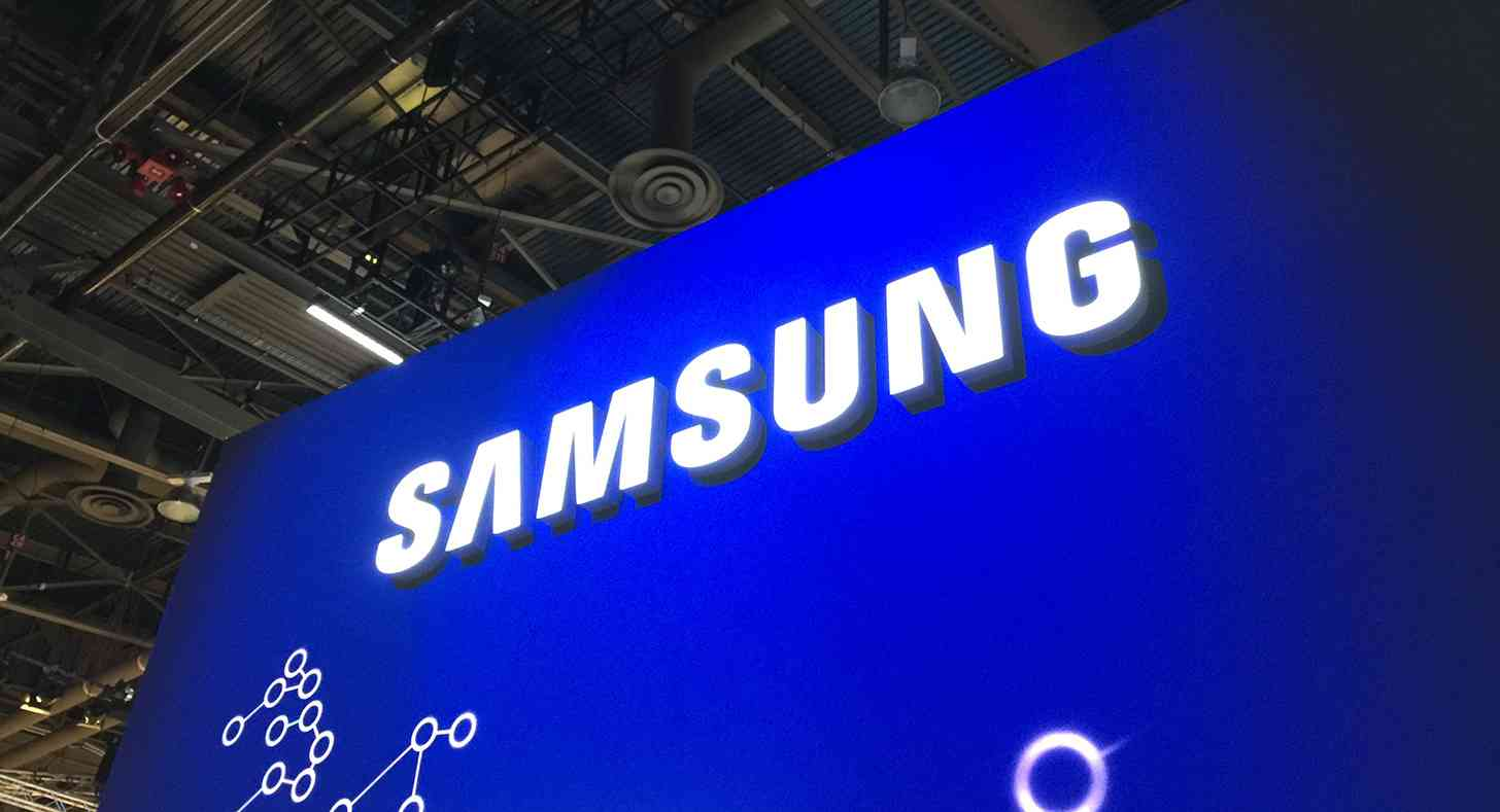 Samsung logo CES 2015 booth