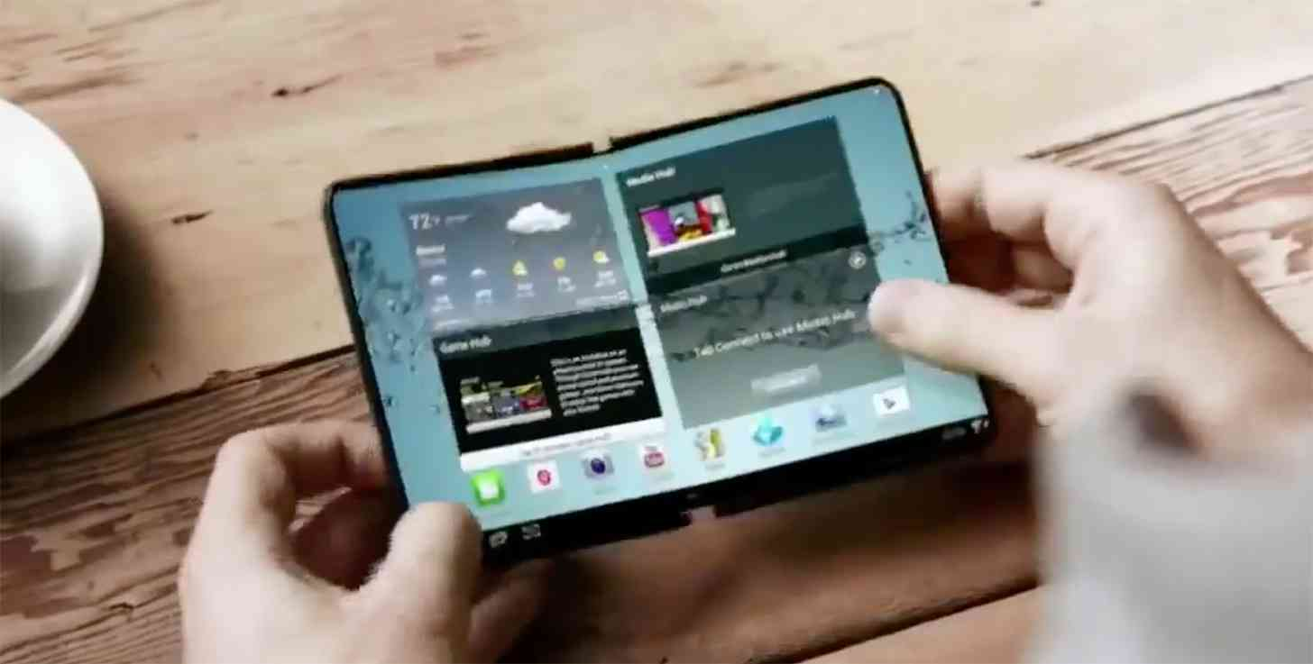 Samsung foldable smartphone demo