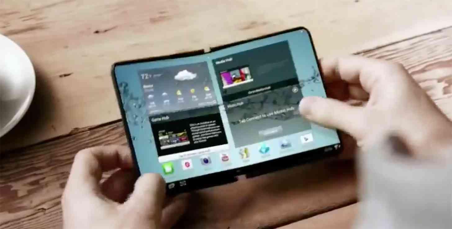 Samsung foldable smartphone Winner